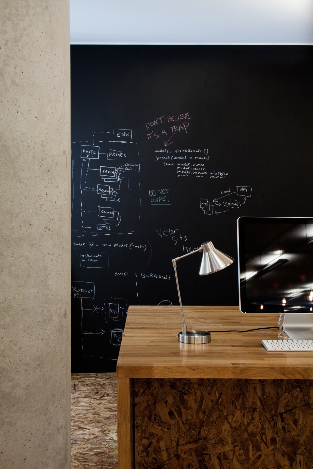 quirky workspace interior design