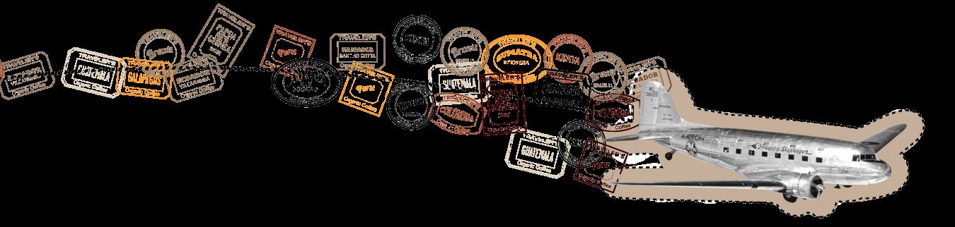 artisan coffee wall graphics plane design copy