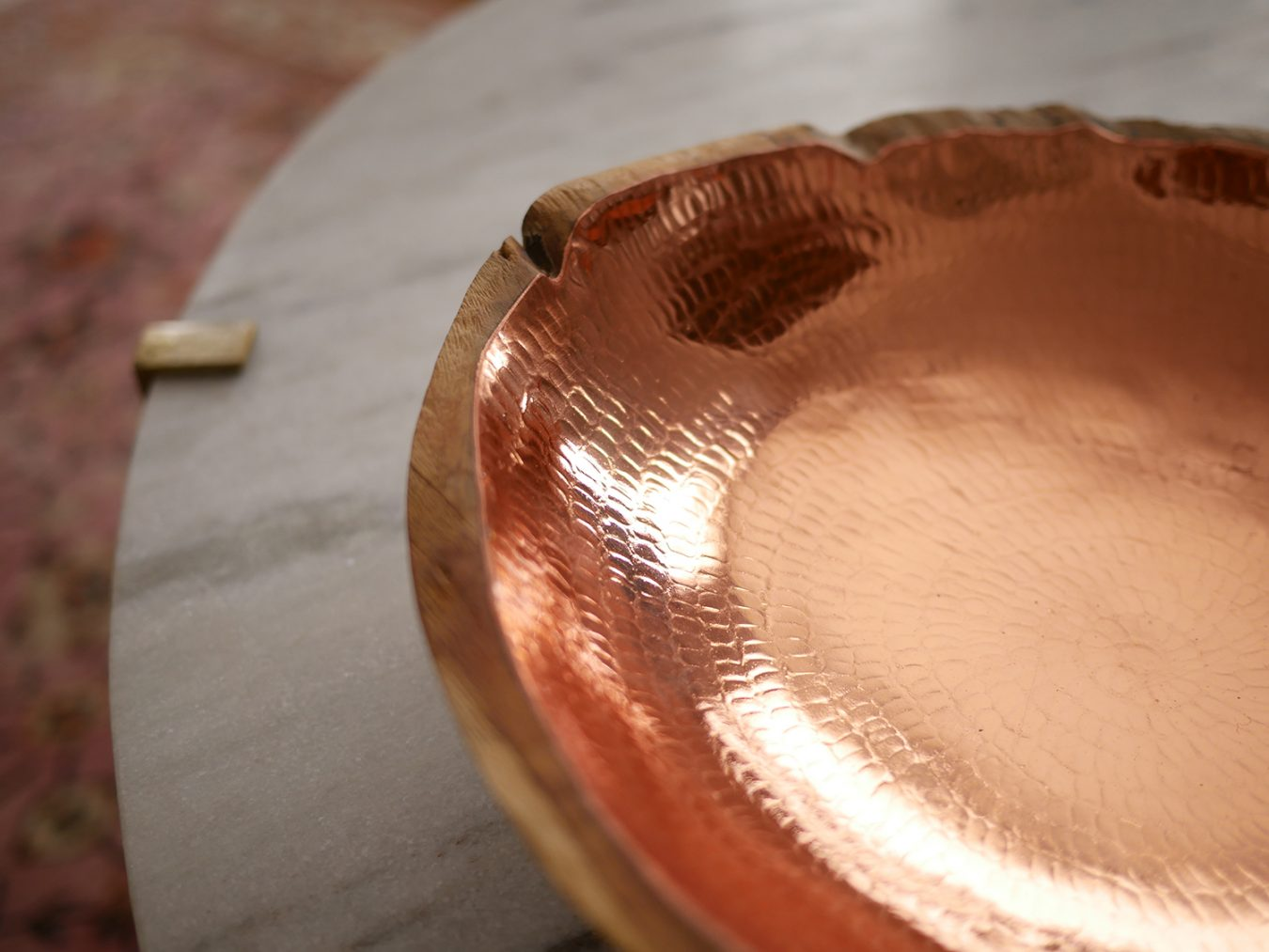 interior-design-styling-residential-luxury-copper-brass-lined-wood-bowl-detailing-finishes-metalic-marble-top-dish